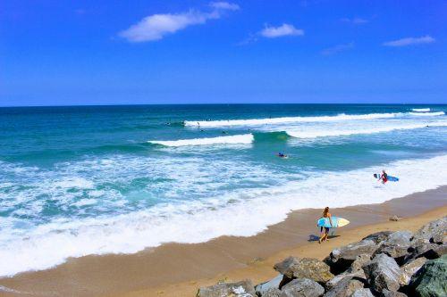 basque country bidart centre surfer