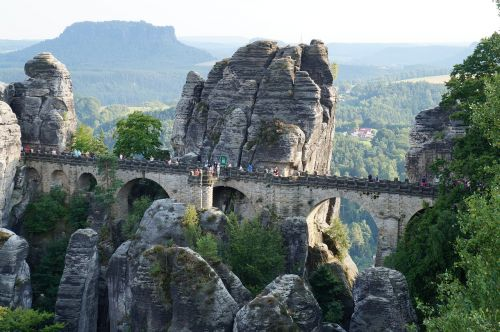 bastei saxon switzerland rock city