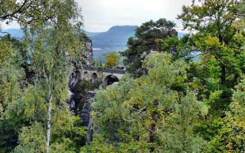 bastei bridge saxon switzerland landscape