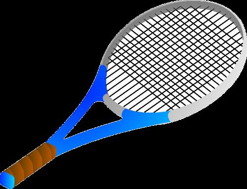 bat tennis blue
