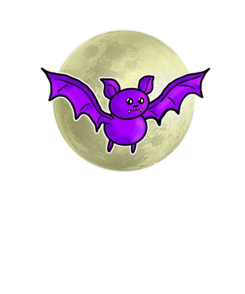 bat halloween moon