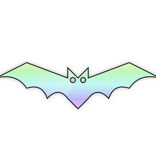Bat With Rainbow Body
