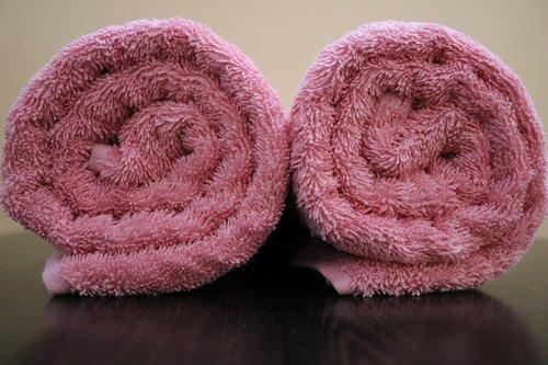 bath towel  450 gsm  color pink