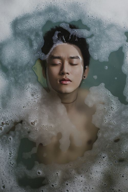 bathing person water