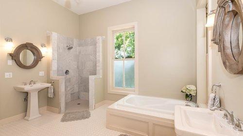 bathroom  standing shower  bathtub