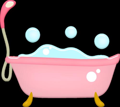 bathtub  bubbles  pink