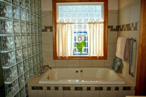 bathtub stained glass window