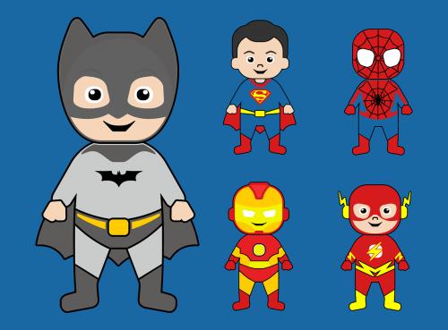 batman superman iron man