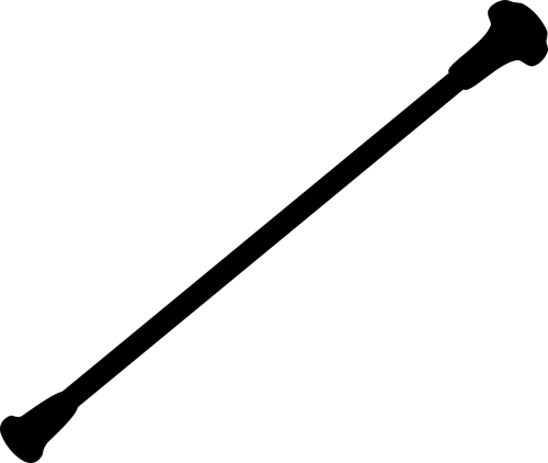 baton,Stick,juoda,siluetas,nemokama vektorinė grafika