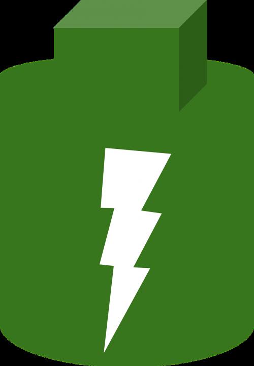 battery full battery green