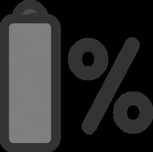battery laptop percentage