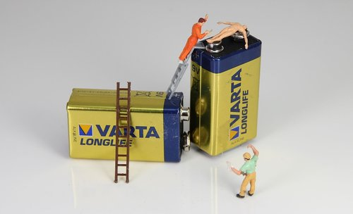 battery  energy  miniature figures
