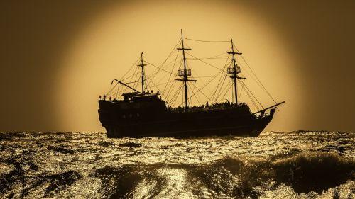 battleship pirate ship sailboat