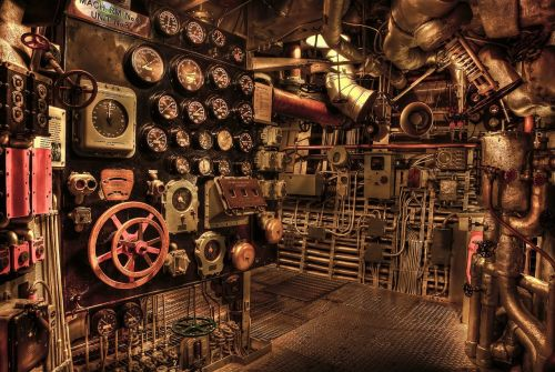 battleship engine room historic