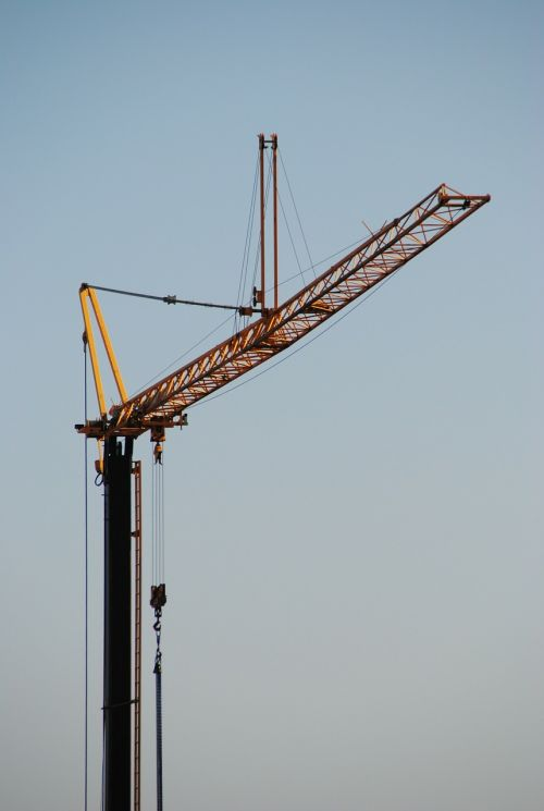 baukran site crane arm