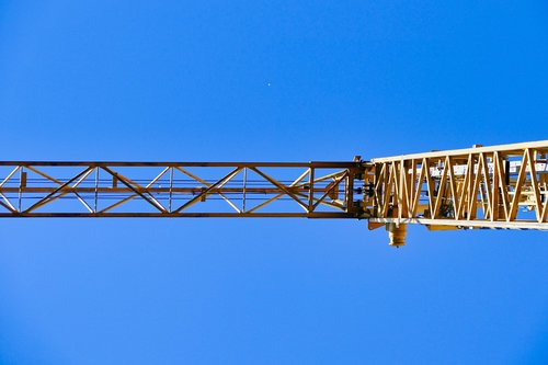 baukran  crane  sky