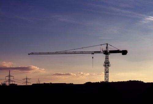 baukran  crane  site