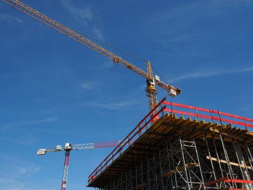 baukran site construction work