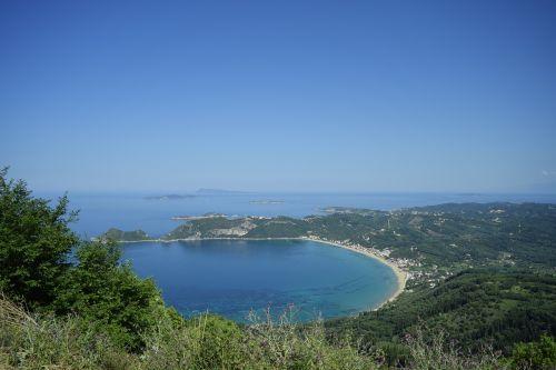 bay corfu island