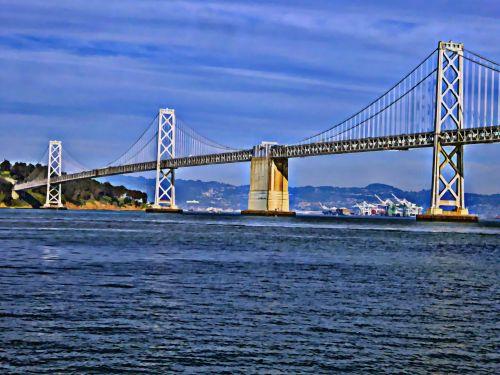 Bay & nbsp, tiltas, San & nbsp, francisco, tiltas, tiltai, meno, dažytos, lyno tiltas