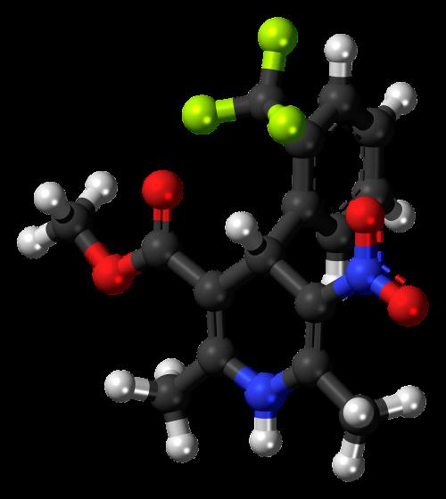 bay k8644 molecule model