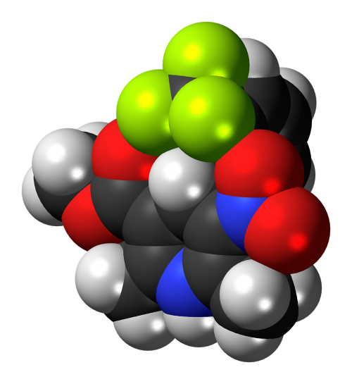 bay k8644 molecule model