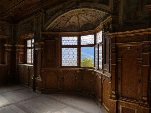 bay window castle room south tyrol