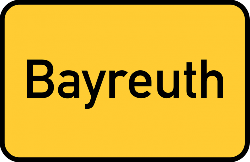bayreuth bavaria town sign