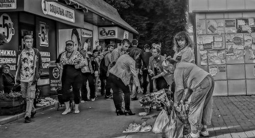 bazaar people sellers