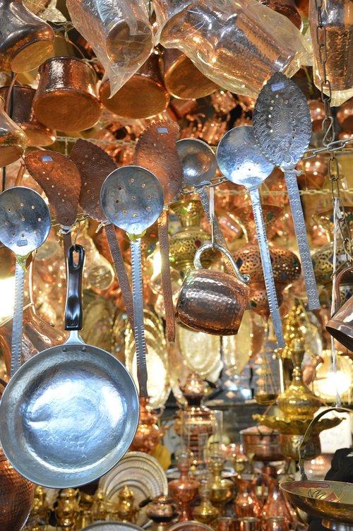 bazaar  vessels  copper