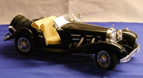 bbubrago model car merces benz 500 k