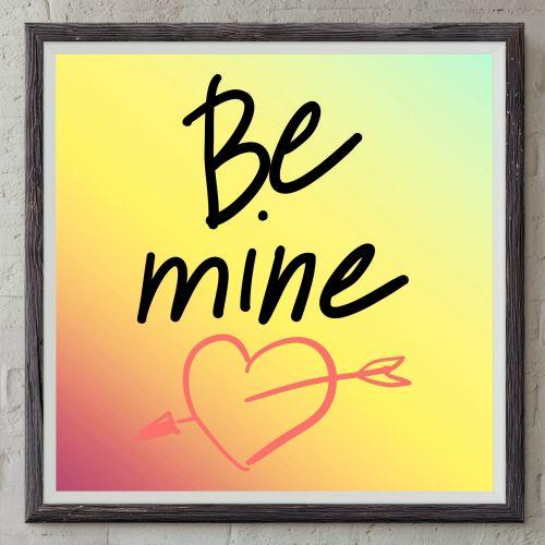 būti, mine, tekstas, rėmas, gradientas, širdis, fonas, pranešimas, prašymas, teksto siuntimas, informacija, rodyklė, Būk mano