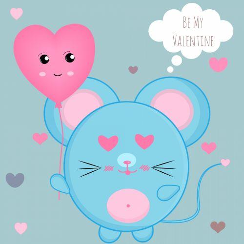 atvirukas, kortelė, internetinė & nbsp, kortelė, elektroninė & nbsp, atvirukas, sveikinimai & nbsp, kortelė, juokinga, mielas, purus, būti & nbsp, mano & nbsp, valentine, pelė, širdis, balionas, rožinis, mėlynas, valentines, meilė, žavinga, laimingas, būk mano Valentinas