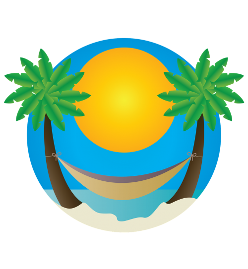 beach palm trees hammock