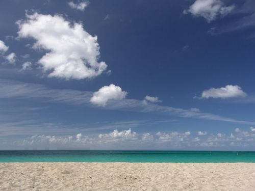 beach sea unaffected