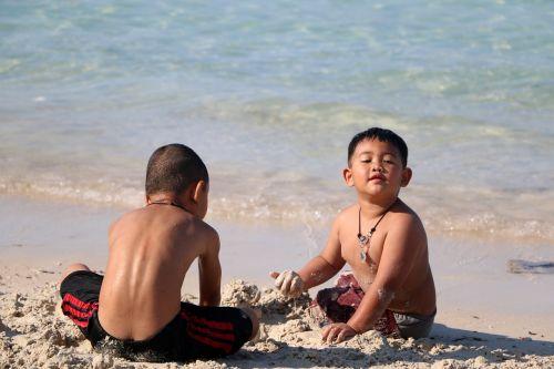 beach baby child