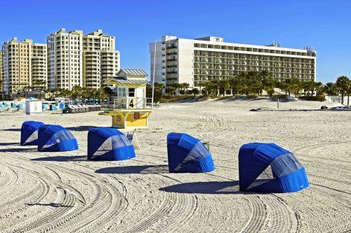 beach sunshade guard booth