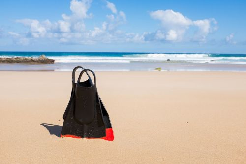 beach flippers scuba gear