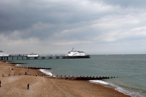 papludimys,mėlynas,prieplauka,dockside,Eastbourne,kirminas,šventė,prieplauka,vandenynas,prieplauka,krantinė,prieplauka,jūra,akmenys,akmeninis,naršyti,bangos,prieplauka