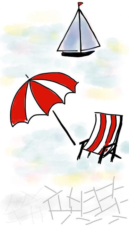 beach summer beach umbrella
