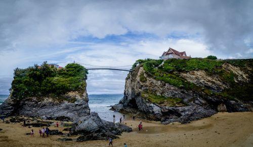 beach cornwall bridge