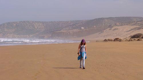 beach morocco sea