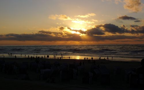 beach sunset norderney