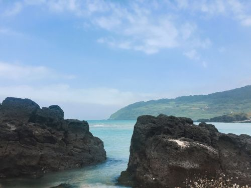 beach jeju sea jeju island