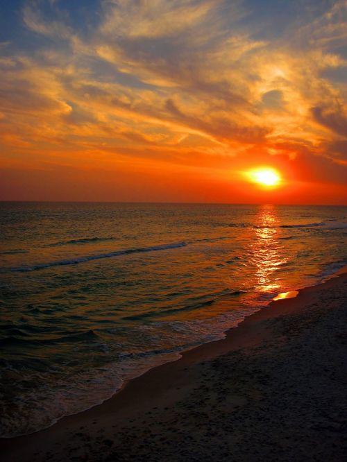 beach sunset florida