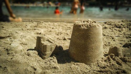 beach lake sand