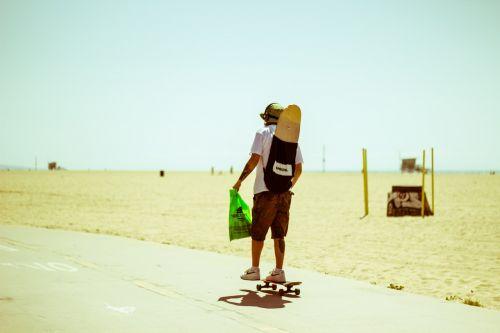 beach california skateboarding