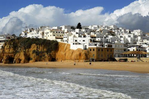 beach portugal white villages