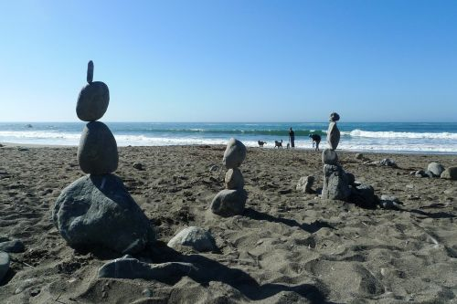 beach stones sea