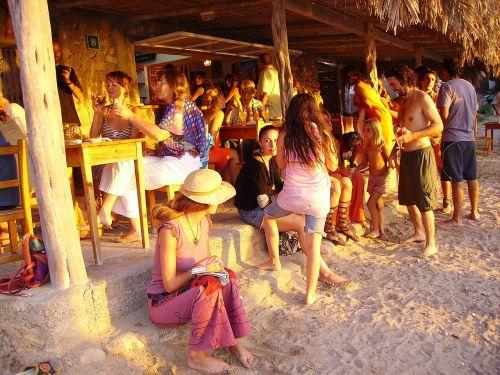 beach sunset ibiza